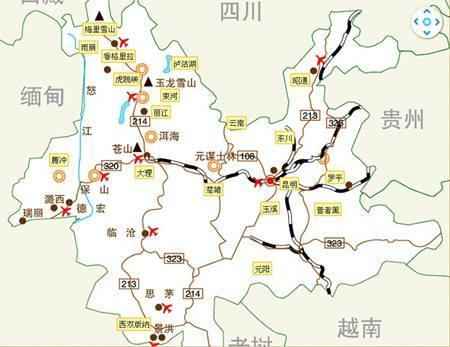 2020年云南旅游地图全图,云南旅游线路地图全图攻略  第2张