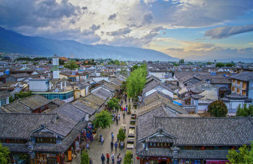 蔡赟南部的大理古城